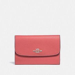 Coach Medium Leather Envelope Wallet Coral